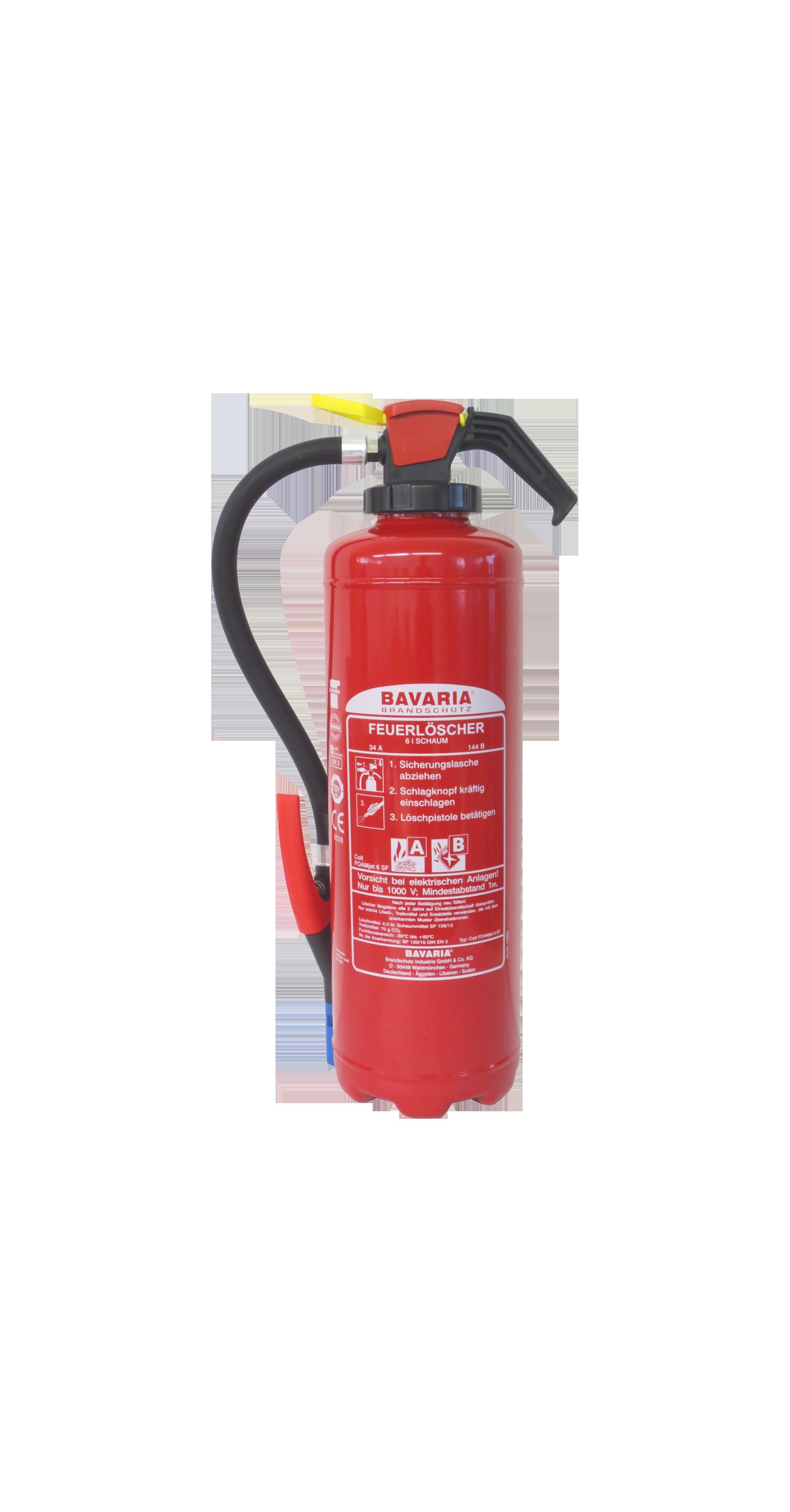 BAVARIA COLT FOAM-JET SF ist ein Hochleistungs-Schaumlöscher. Das Gerät ist einsetzbar in Industrie und Gewerbe, kommunale Einrichtungen und Verwaltungen, im Haushalt und allen Bereichen, wo ein umfassender, vorbeugender Brandschutz gewährleistet sein muss. Der FOAM-Jet ermöglicht punktuelles Löschen ohne Kontamination der Umgebung mit Löschmitteln an Stellen, wo sie nicht erwünscht sind. Bavaria Feuerlöscher 6 Liter mit Schaum ( 10 Jahre Herstellergarantie)