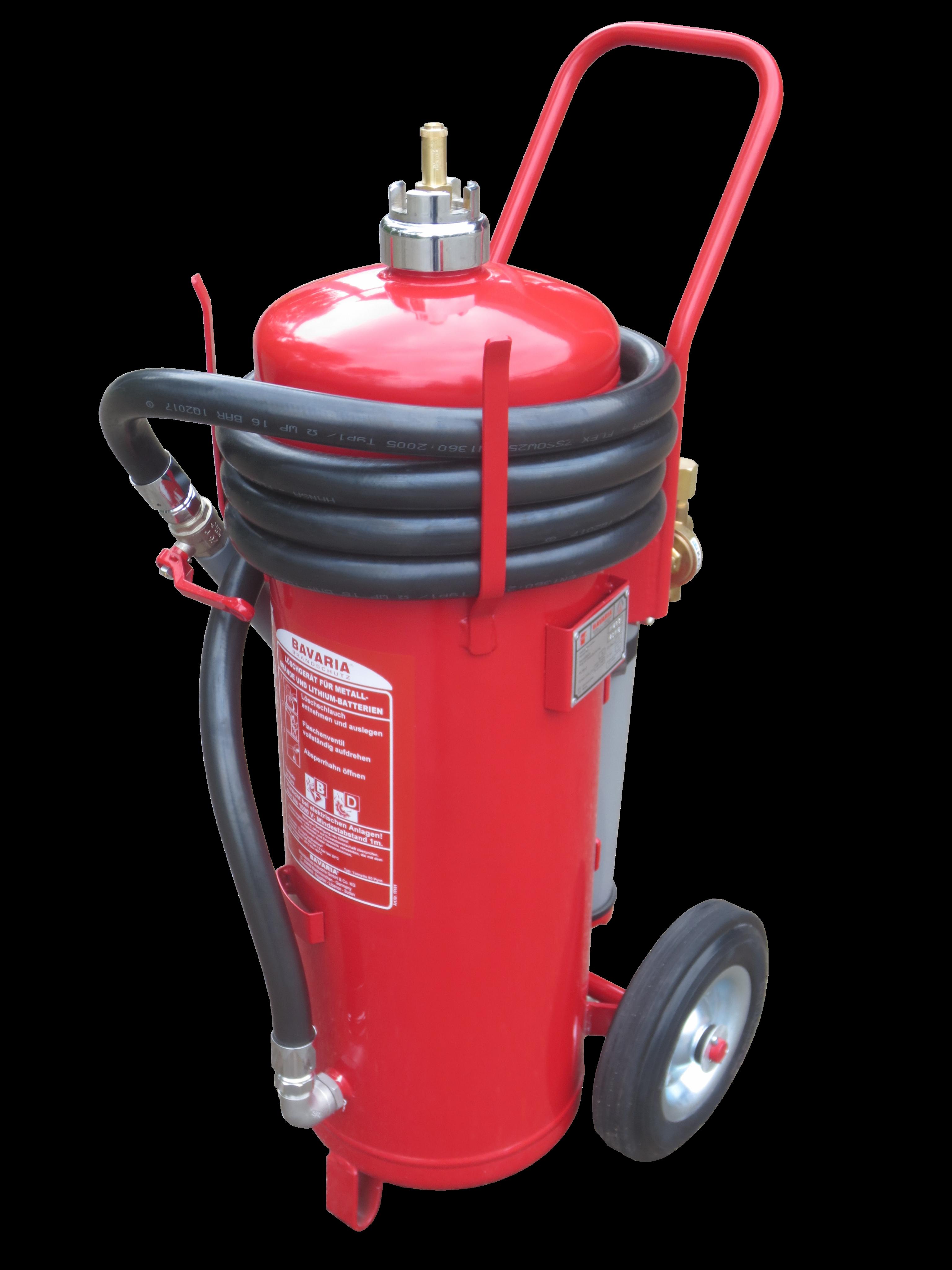 Der Bavaria Lithium Feuerlöscher eignet sich ideal für die Brandklassen A,B,D und F. Löschen und kühlen von Lithium-Ionen Akkus mit Extover