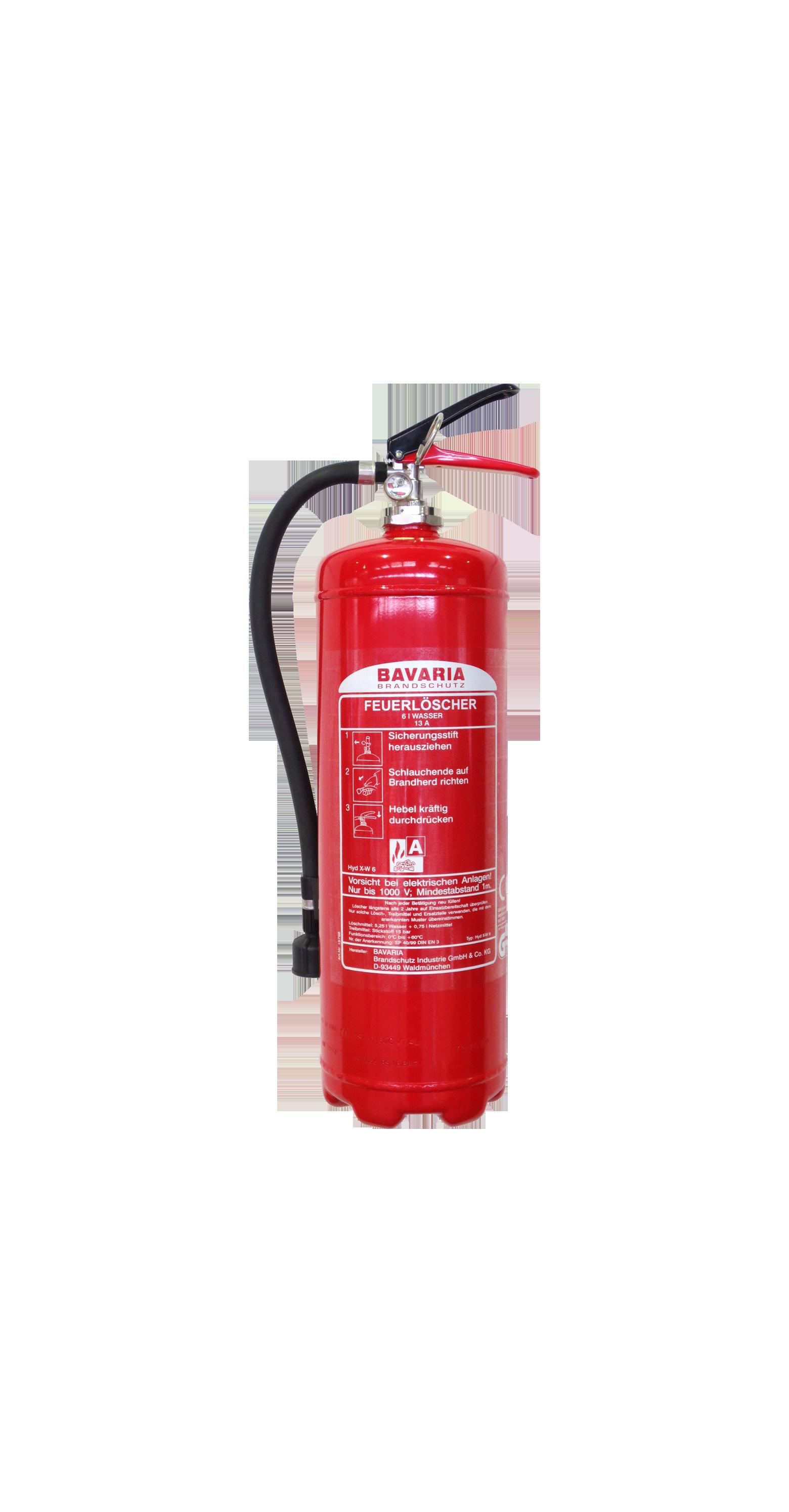 BAVARIA 6l Dauerdruck-Wasserlöscher mit Manometer, 4LE – Dauerdrucklöscher Wasser.