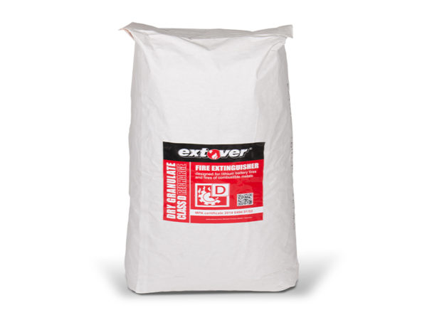 Sonderlöschmittel für die Industrie, Privat und Feuerwehr als trockenes Löschgranulat 55 Liter im 12,5 kg Sack und im Karton verpackt. Größere Mengen auf Anfrage. Von der MPA Dresden zertifiziertes Löschmittel