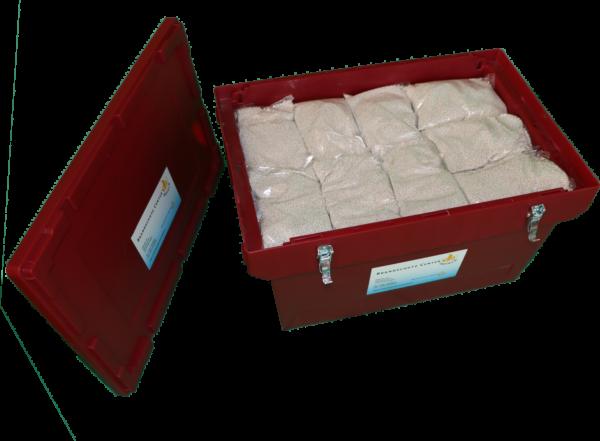 Akkubehälter mit Löschgranulat