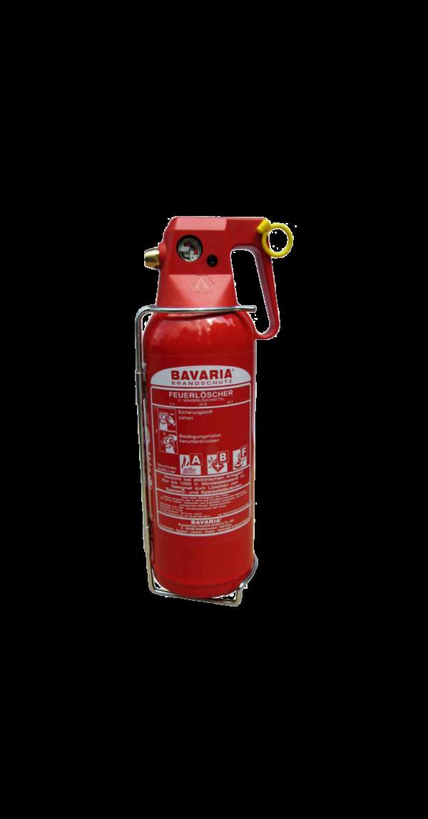 BAVARIA 2l Universal- und Fettbrandlöscher mit Manometer, frostsicher, 1LE – Fettbrandlöscher.