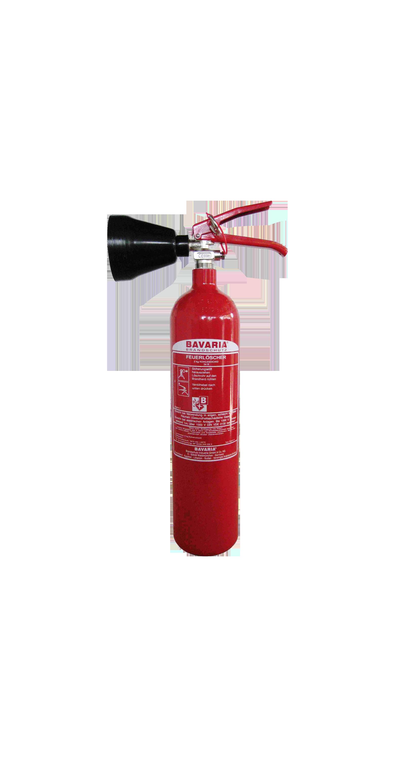BAVARIA SIGMA 2 eignet sich ideal zur Brandbekämpfung bei EDV-Anlagen und zum Einsatz im medizinisch-technischen Bereich. – BAVARIA 2kg CO2-Feuerlöscher, 2LE.