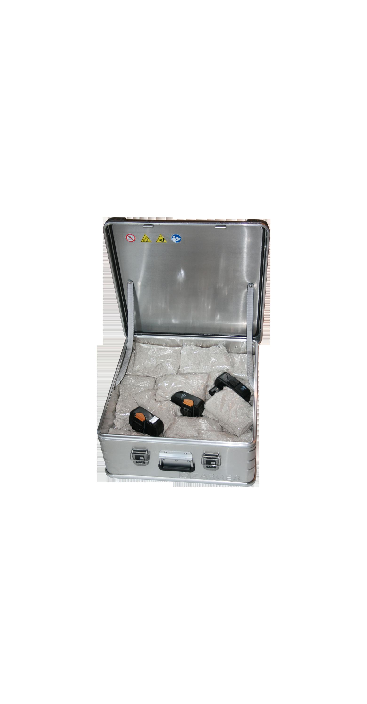 Transportbox für Lithium-Ionen