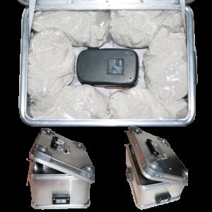 Golfer Akku Ladebox ZARGES K470 für 2 x Akku.Mit dem Löschgranulat EXTOVER und Brandschutzmittel , 3 x 1 kg+10 x 0,190 kg. Schutz vor Feuer und Bränden. Ein perfekter optimierter Sicherheitsbehälter für die Lagerung, Laden und den Transport von Akkus. Speziell von Lithium-Ionen Akkus und Batterien.